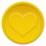 Moneda del corazón Imagen de archivo libre de regalías