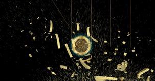 Moneda del cryptocurrency de Tron TRX demoler monedas principales del mundo stock de ilustración