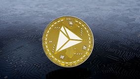Moneda del cryptocurrency del tron ilustración del vector