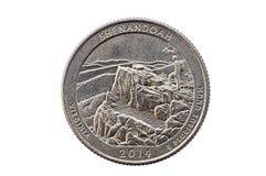 Moneda del cuarto de Shenandoah Fotos de archivo