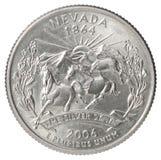 Moneda del dólar cuarto imagen de archivo