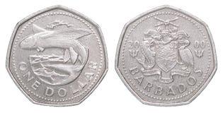Moneda del dólar de Barbados imagenes de archivo
