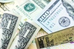 Moneda del dólar de EE. UU. Fotos de archivo libres de regalías