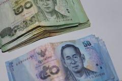 Moneda del dinero del ahorro de Tailandia Imágenes de archivo libres de regalías