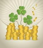 Moneda del dinero del día del St. Patrick Fotografía de archivo