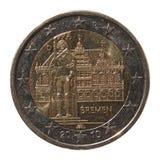 Moneda del euro 2 de Alemania Imagen de archivo libre de regalías