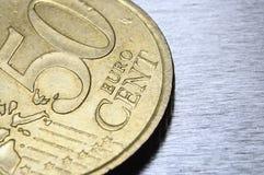Moneda del euro de cincuenta centavos Imagenes de archivo