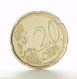 Moneda del euro de veinte centavos Imagen de archivo libre de regalías