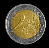 Moneda del euro dos Fotografía de archivo libre de regalías