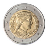 Moneda del euro dos Foto de archivo
