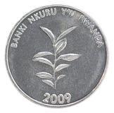 Moneda del franco de Rwanda Imagen de archivo libre de regalías