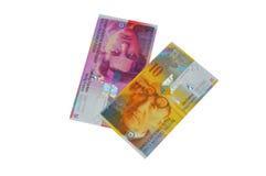 Moneda del franco suizo del CHF Imagen de archivo