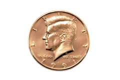 Moneda del medio dólar Fotografía de archivo libre de regalías