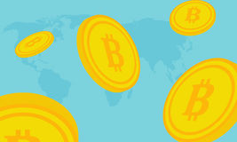 Moneda del pedazo Imagen de archivo libre de regalías