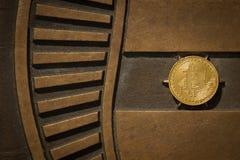 Moneda del pedazo con el fondo brillante del metal fotos de archivo libres de regalías