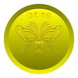 Moneda del perro Foto de archivo
