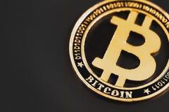 Moneda del s?mbolo de Bitcoin imagenes de archivo