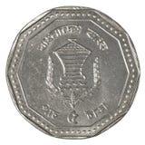 Moneda del taka de cinco bangladeshi foto de archivo libre de regalías
