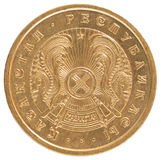 Moneda del tenge del Kazakh Imagen de archivo libre de regalías