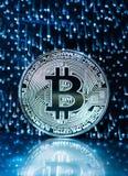 Moneda digital de Bitcoin imagen de archivo