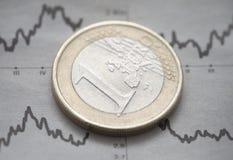 Moneda euro Fotos de archivo
