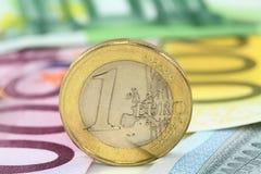 Moneda euro Imagen de archivo libre de regalías