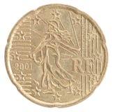 Moneda euro del centavo Foto de archivo libre de regalías