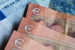 Moneda euro del dinero Imágenes de archivo libres de regalías