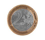 Moneda euro falsa, euro 2 imagen de archivo libre de regalías