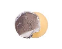 Moneda euro, monedas del chocolate fotografía de archivo