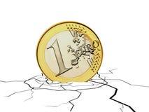 Moneda euro que cae Imagen de archivo libre de regalías