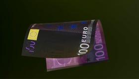 Moneda euro y x28; billetes de banco y x29; en la protección de la luz UV Imagen de archivo