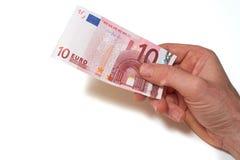 Moneda europea Imágenes de archivo libres de regalías
