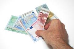Moneda europea Imagen de archivo libre de regalías