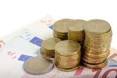 Moneda europea Fotografía de archivo
