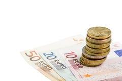 Moneda europea Fotografía de archivo libre de regalías