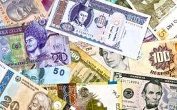 Moneda extranjera clasificada Foto de archivo libre de regalías