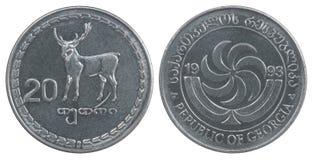 Moneda georgiana del tetri Fotos de archivo