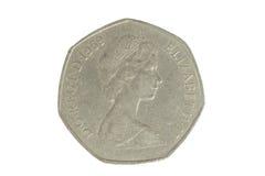 Moneda inglesa 1 Imagen de archivo libre de regalías