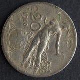 Moneda italiana Fotografía de archivo libre de regalías