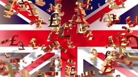 Moneda - libra - bandera libre illustration