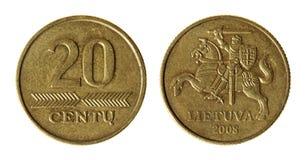 Moneda Lituania encendida Fotos de archivo libres de regalías