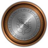 Moneda metálica de la muestra de Ganesha Imagen de archivo libre de regalías