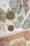 Moneda obsoleta de los billetes de banco y de las rublos de las monedas de la Unión Soviética Imagen de archivo