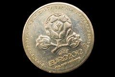 Moneda para el EURO 2012, Ucrania. Imagen de archivo