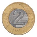 Moneda polaca del zloty Imagenes de archivo