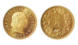 Moneda rara de Suiza imagenes de archivo