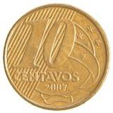 Moneda real brasileña de 10 centavos Imagenes de archivo