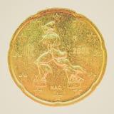 Moneda retra de la mirada Imágenes de archivo libres de regalías