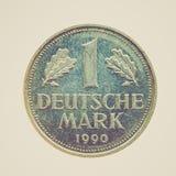Moneda retra de la mirada aislada Fotos de archivo